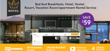The best hotel WordPress theme 2017